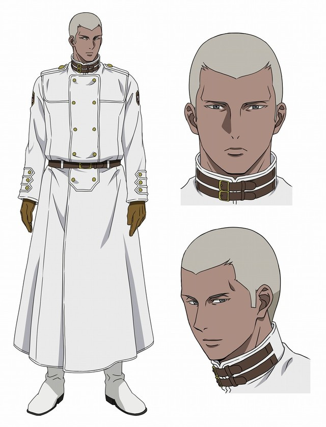 In human form, Arthur, an Incarnate Soldier, has dark skin, close cropped gray hair, and piercing eyes.