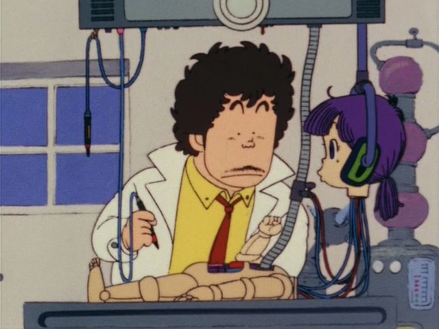 Genius inventor Senbei Norimaki is bemused when his robot daughter, Arale, begins sassing him before she's even fully created.