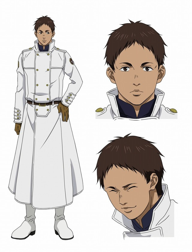 Roy is an Incarnate Soldier with tanned skin, dark hair, and a stoic expression.