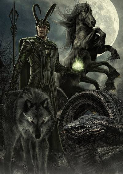 Loki and Fenrir | Keep it Loki | Pinterest |Loki Fenrir