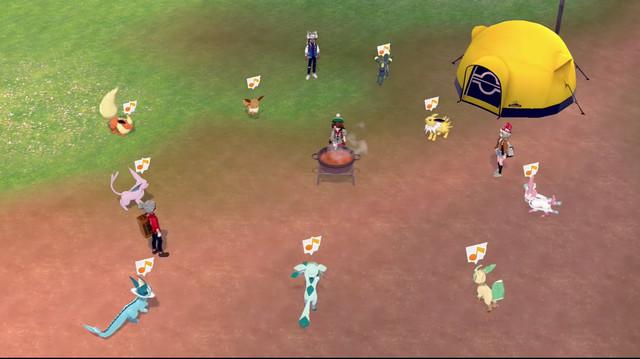 Pokémon Sword and Shield camping shot