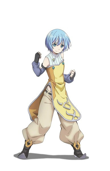 A character visual of Louise Yorande Aorelia Oufelbeik, a small but pugnacious magical artist from the upcoming Hachinan-tte, Sore wa Nai Deshou! TV anime.
