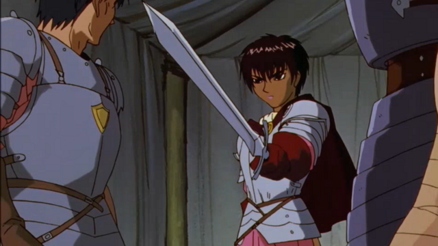 Casca and her sword in Berserk