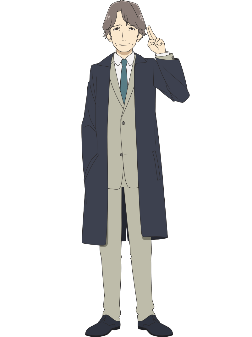 A character setting of Masahiro Gotouda from the upcoming Farewell, My Dear Cramer TV anime.