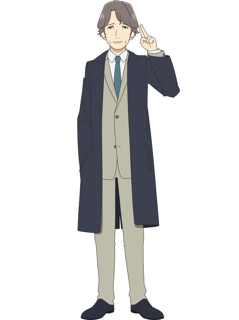 Un escenario de personajes de Masahiro Gotouda del próximo anime de televisión Farewell, My Dear Cramer.