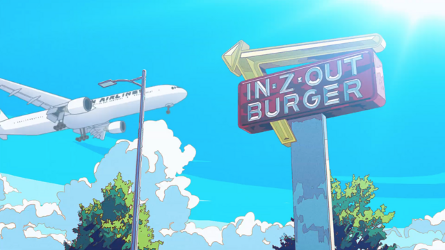 IN-Z-OUT BURGER in Anime
