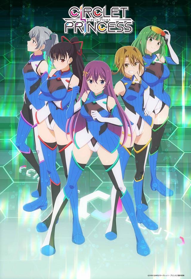 Le visuel montrant cinq jeunes femmes avec une tenue de sport courte.