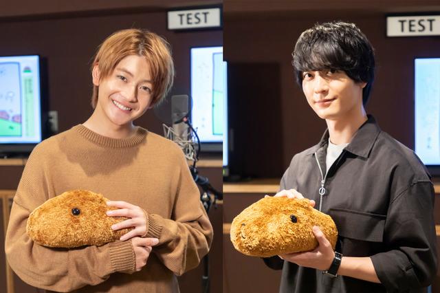 Fumiya Takahashi and Yuichiro Umehara, with Kapibarasan