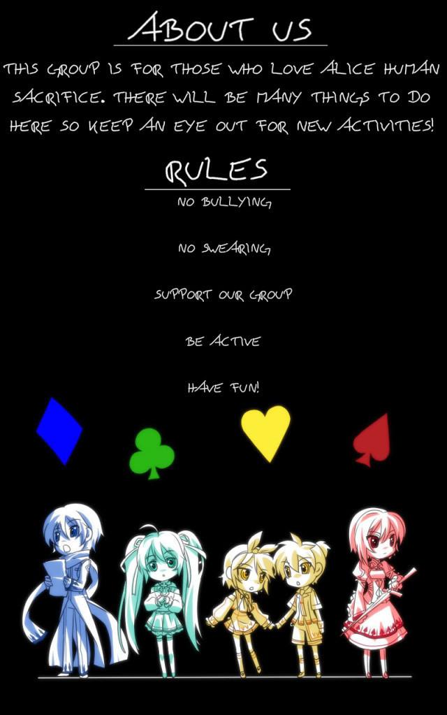 Crunchyroll Alice Human Sacrifice Club Group Info