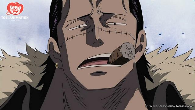 Crocadile burlándose con puro, One Piece