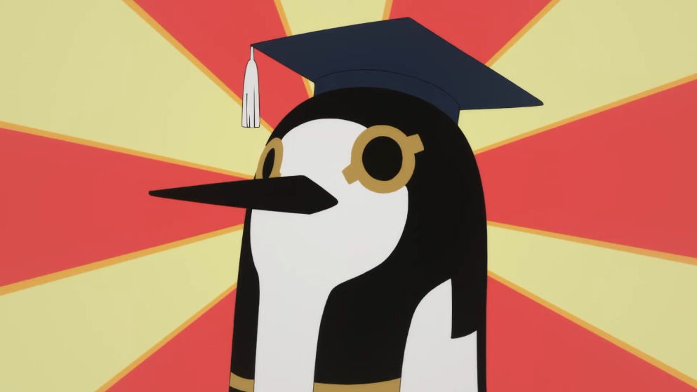 The Egyptian deity, Thoth, is a brainy fellow wearing a graduation cap in a scene from the upcoming To-totsuni Egypt Kami anime.