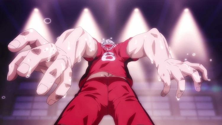 El protagonista Tatsuya Yoigoshi se prepara para abordar con todas sus fuerzas en una escena del próximo anime televisivo Burning Kabaddi.