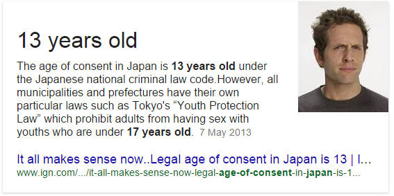 Legal age for a girl to have sex