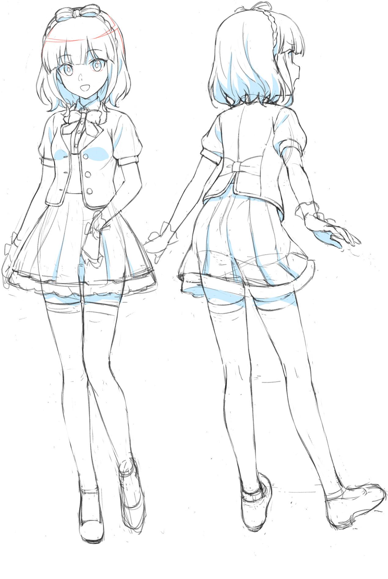Un escenario de personajes de Toka Shimochiai, uno de los personajes principales del próximo Alice Gear Aegis OAV.