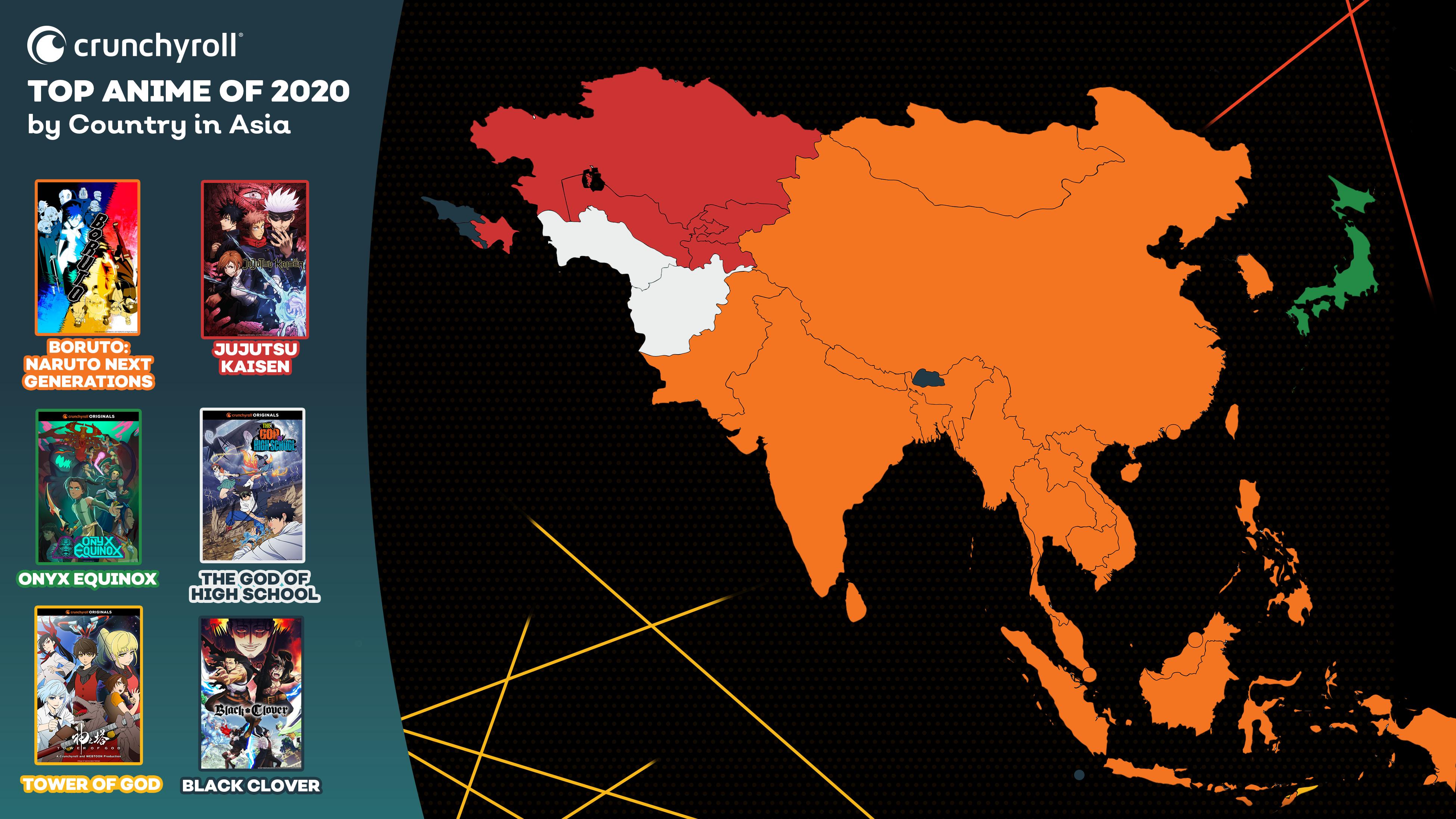Mejor anime de 2020 por país: Asia