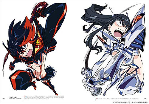 Una muestra de la obra de arte Kill la Kill del nuevo libro de arte animado de Hiroyuki Imaishi.
