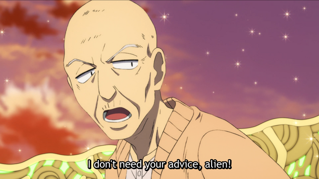 The elderly Takezo Ryuzoji rejects the tender messages of the Sealing Faction.