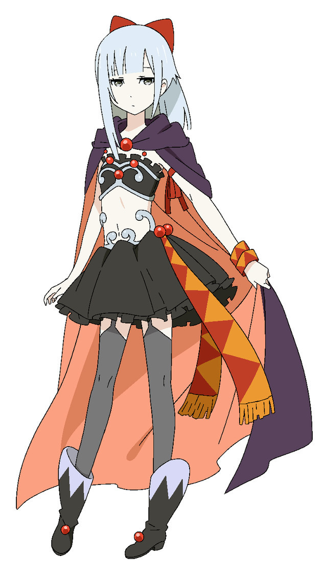 Yukikaze, a petite, fair-skinned, cross-dressing adventurer in a sorceress outfit.