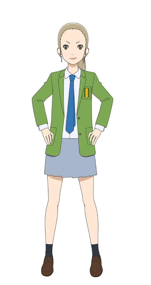 Un personaje visual de Aya Shiratori, miembro del club de fútbol femenino con una cola de caballo y una expresión determinada del próximo anime Farewell, My Dear Cramer TV.