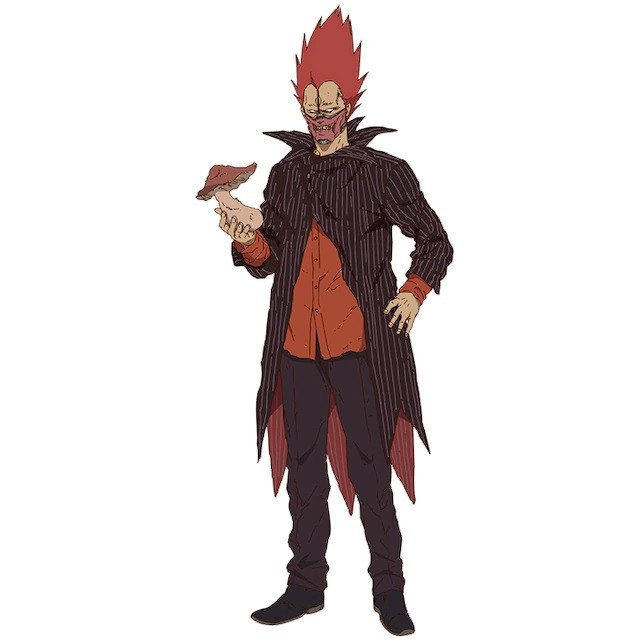 En, an evil gangster with flaming red hair in the Dorohedoro TV anime.