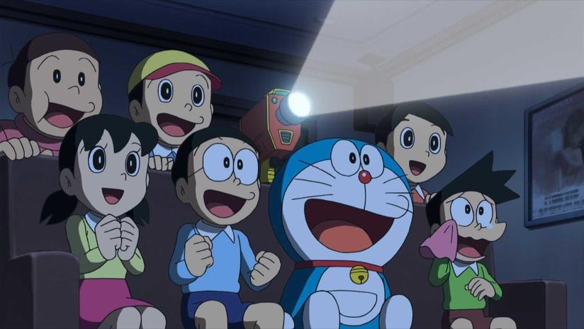 El elenco de Doraemon viendo su fan film