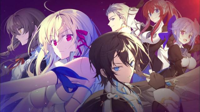 A banner image featuring the main cast of the Kimi to Boku no Saigo no Senjou, Arui wa Sekai ga Hajimaru Seisen fantasy light novel series.