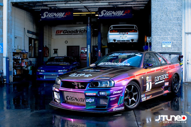 Sure Theres The Evo And Sti But Best Car Hands Down Is Nissan Skyline Gt R R34 Its Just Perfect In Every Way Especially With This Cool Paint Job
