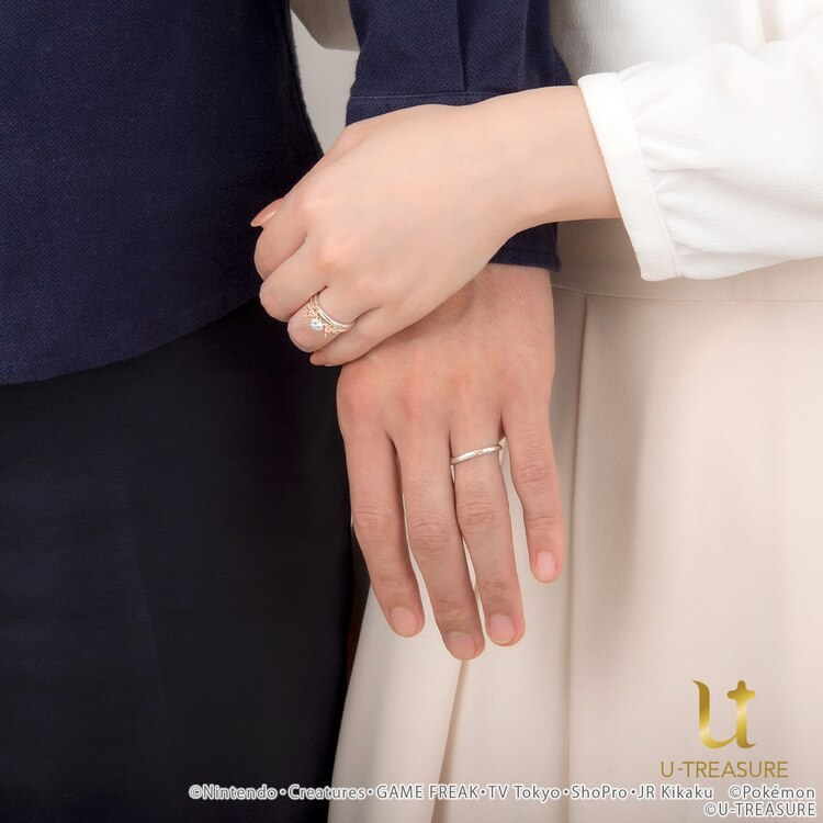 Eevee wedding and engagement rings