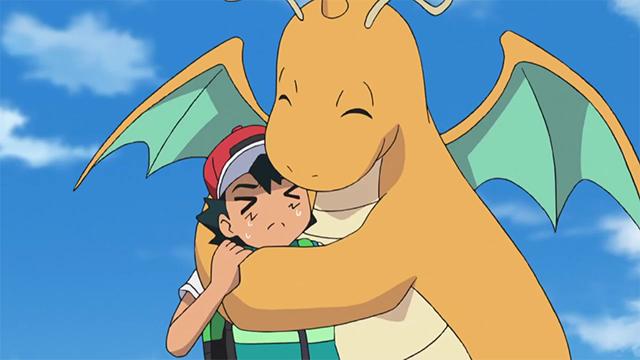 Ash y Dragonite
