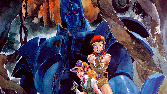 Yuu and Doris, with Giant Gorg standing guard behind them