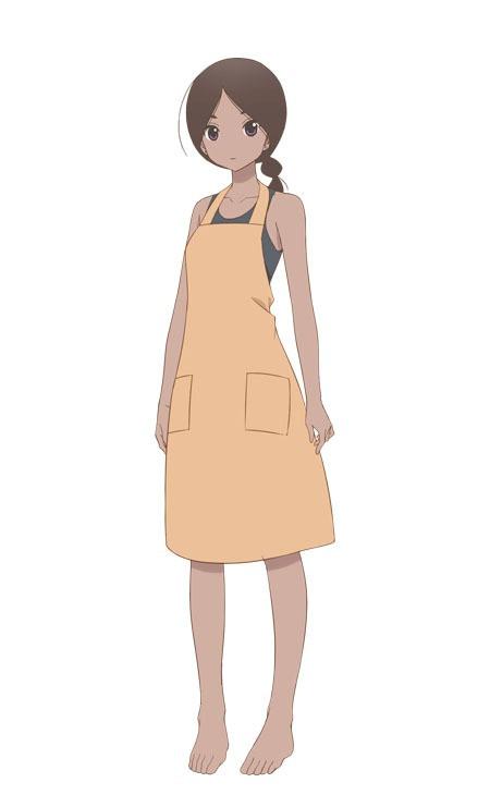 A character visual of Nadira, a housekeeper from the upcoming Kakushigoto TV anime.