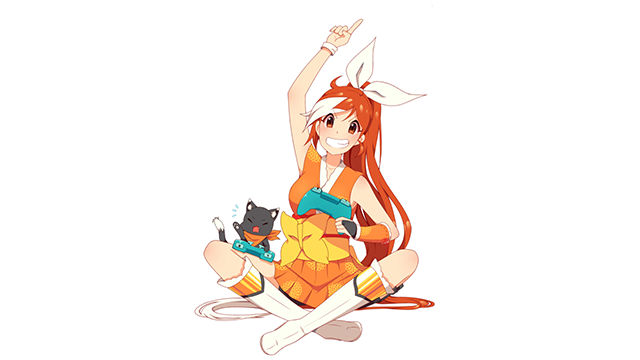 Crunchyroll Hime Playing Video Games