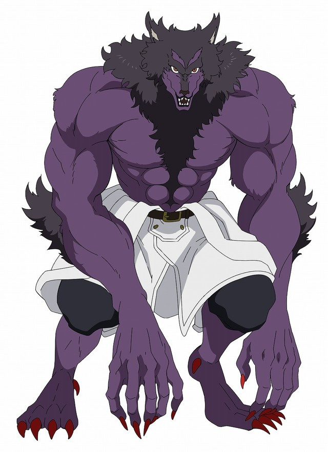 """After transforming into his """"Garm"""" form, Roy is an extremely beefy werewolf with purple fur."""