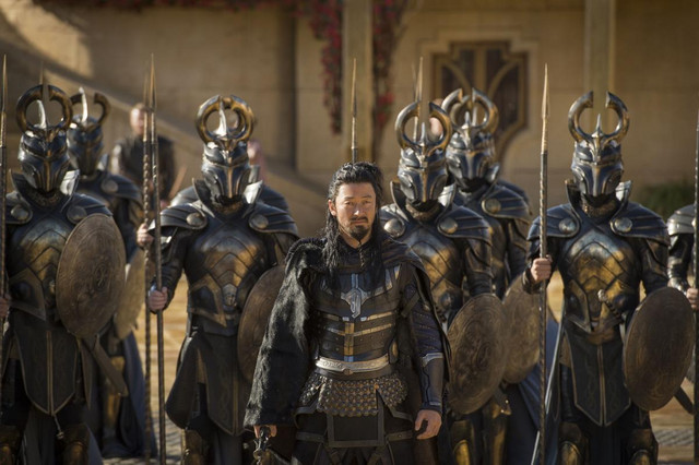 Actor Tadanobu Asano plays Hogun, an Asgardian hero, in Thor: Ragnarok.