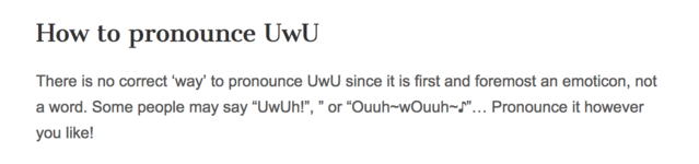 How to pronounce UwU