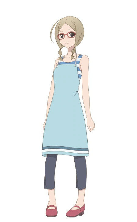 A character visual of Kumi Jouro, a flower shop clerk from the upcoming Kakushigoto TV anime.