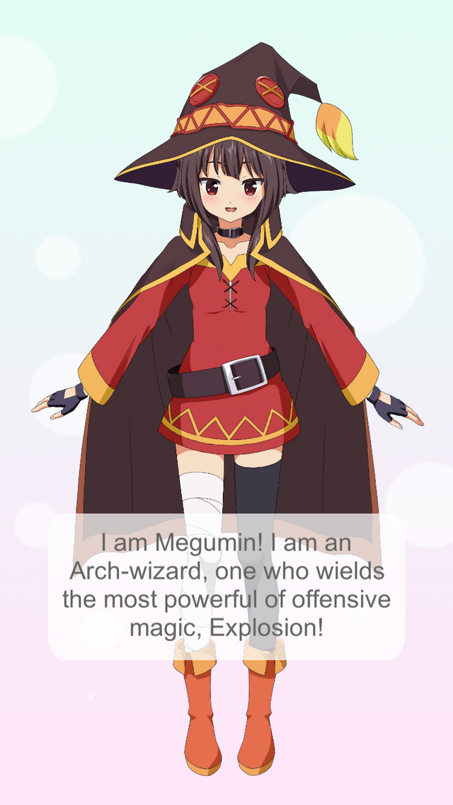 ISEKAI app featuring Megumin