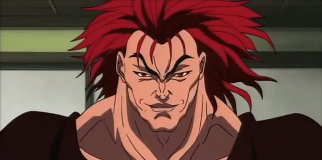 Yujiro Hanma from Grappler Baki, arguably the worst dad in anime history.