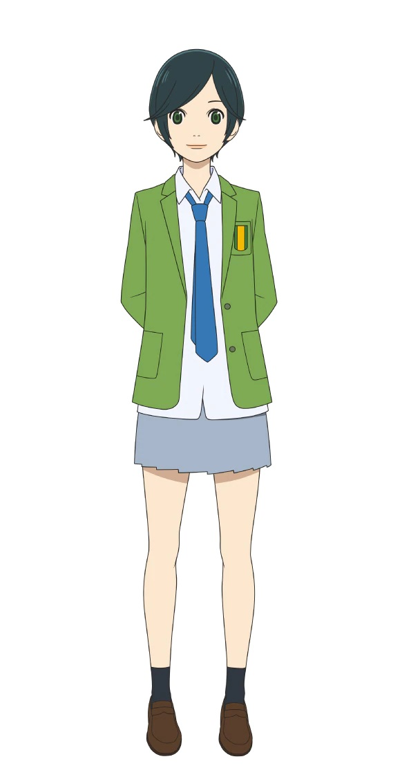 A character setting of Eriko Tase, a member of the high school soccer club from the upcoming Farewell, My Dear Cramer TV anime.
