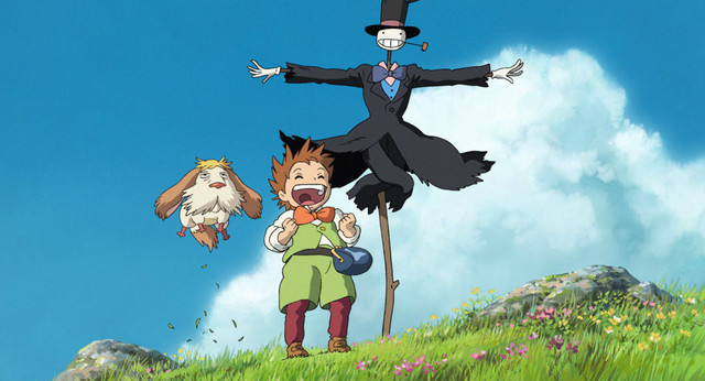 A medley of characters from the theatrical anime film Howl's Moving Castle.