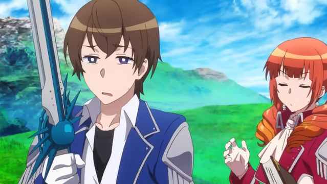 Masato Oosuki and Wise are underwhelmed by Masato's DPS compared to his mother's over-powered dual-wielding skills.
