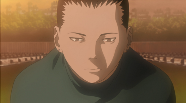 Shikamaru finally visits Asuma's grave