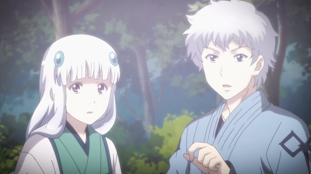 A screen capture of a dramatic flashback sequence from the 2nd preview video for the Tsugu Tsugumomo TV anime.