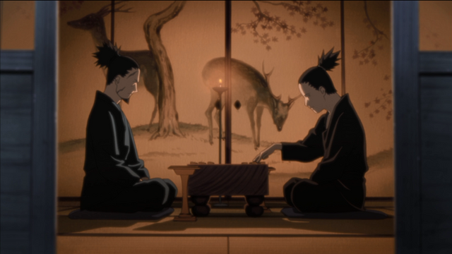 The shot of Shikamaru and Shikaku that stays for two minutes