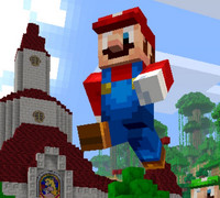 Crunchyroll Super Mario Series Crosses Over With Minecraft Wii