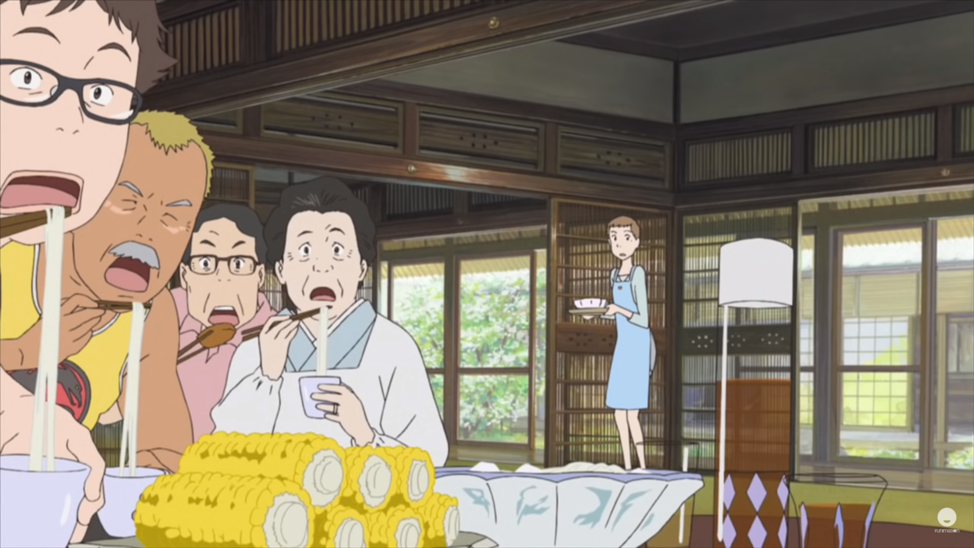 Natsuki's family is stunned as they watch the news, Summer Wars