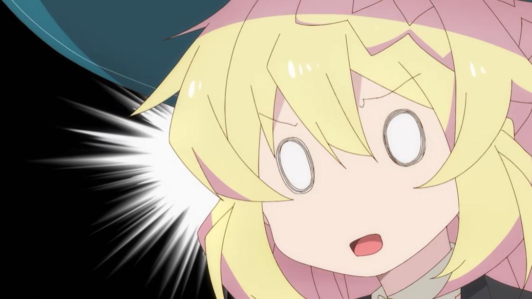 La bruja inmortal Azusa Aizawa no se ve afectada por todos los seres extraños que interrumpen su lenta vida en una escena del próximo anime de TV He estado matando limos durante 300 años y Maxed Out My Level.