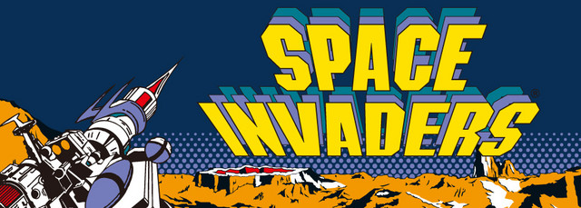 Artwork inspider by the arcade cabinet of Taito's 1978 game, Space Invaders.