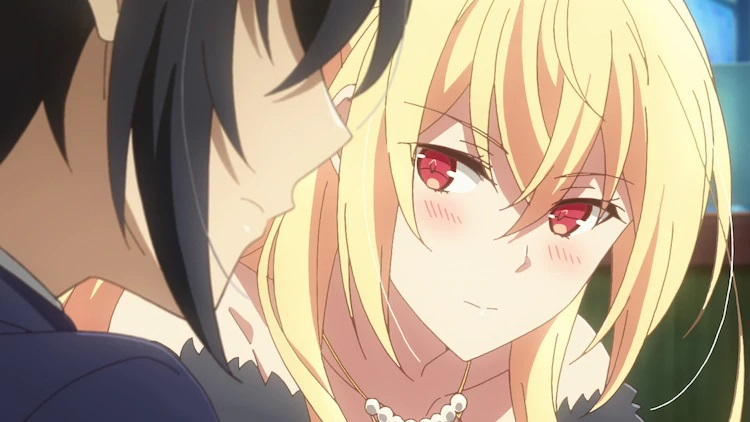 The protagonists Iska and Aliceliese Lou Nebulis IX begin to fall in love in a scene from the upcoming Our Last Crusade or the Rise of a New World TV anime.