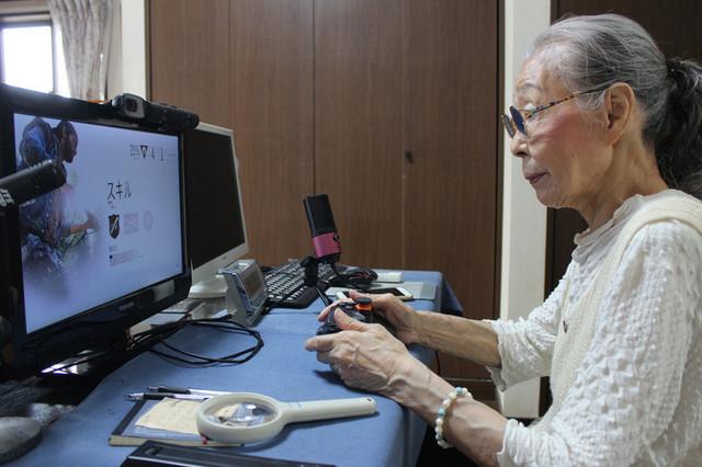 "Hamako Mori, aka ""Gamer Grandma"", plays video games for her Youtube audience."